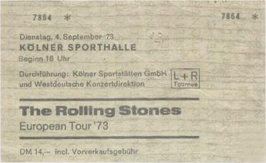 Rolling Stones database 1973