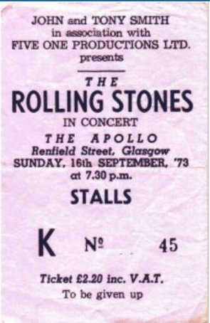 Rolling Stones database 1973