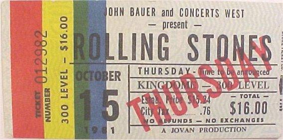 Rolling Stones Database 1981